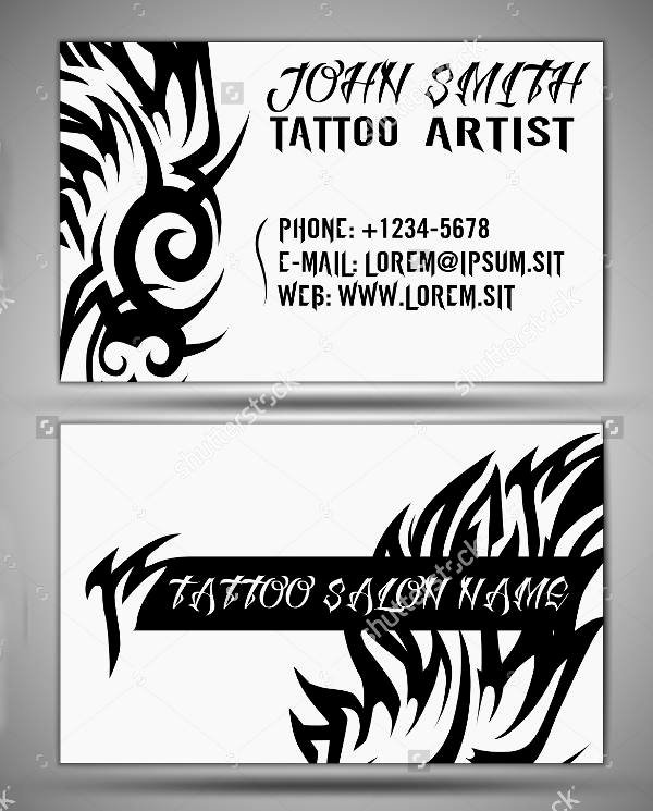 Tattoo Shop Business Cards Elegant 14 Tattoo Business Card Templates In Word Psd Eps Vector
