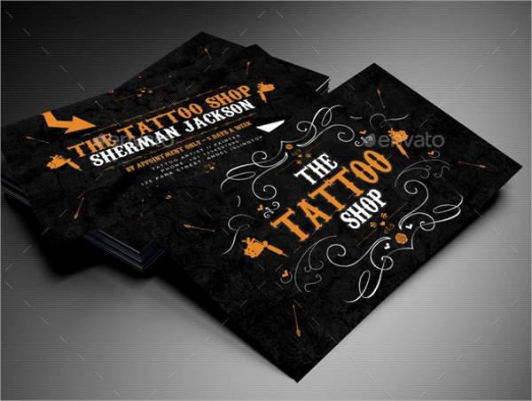 Tattoo Shop Business Cards Inspirational 14 Best Artist Business Card Templates Word Psd Publisher