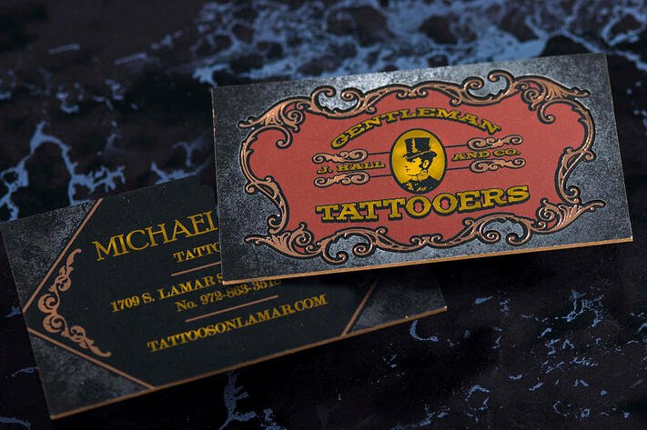 Tattoo Shop Business Cards New the Anatomy Of E Bad ass Tattoo Shop Business Card