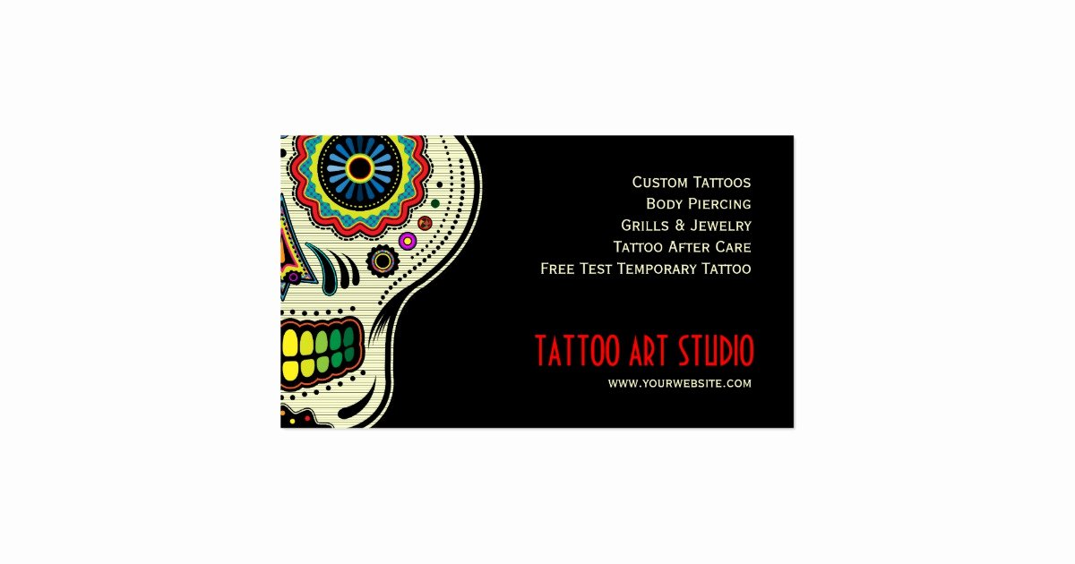 Tattoo Shop Business Cards Unique Tattoo Art Shop Business Card