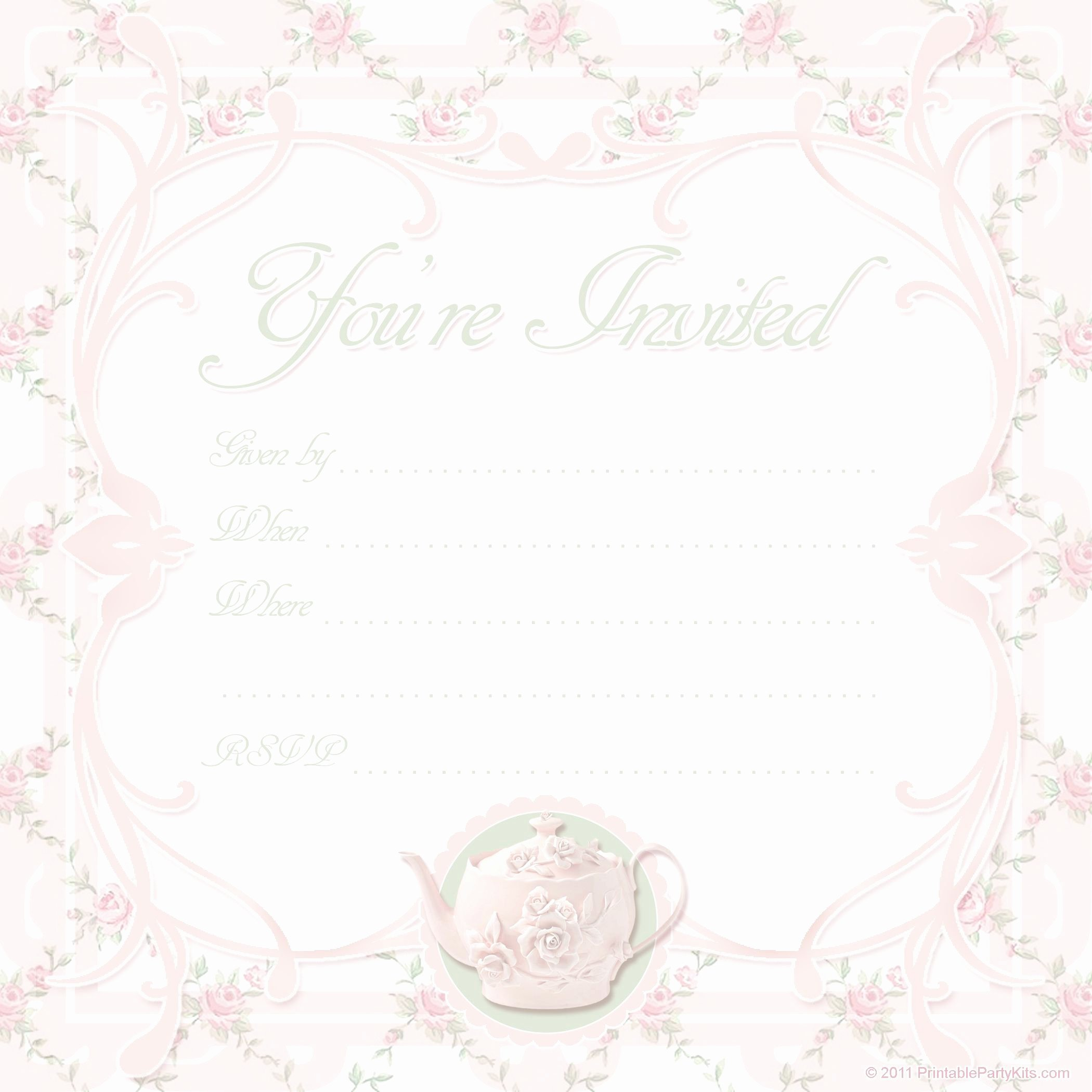 Tea Party Invitation Template Best Of Card Template Blank Invitation Templates Free for Word Card Invitation Templates Card