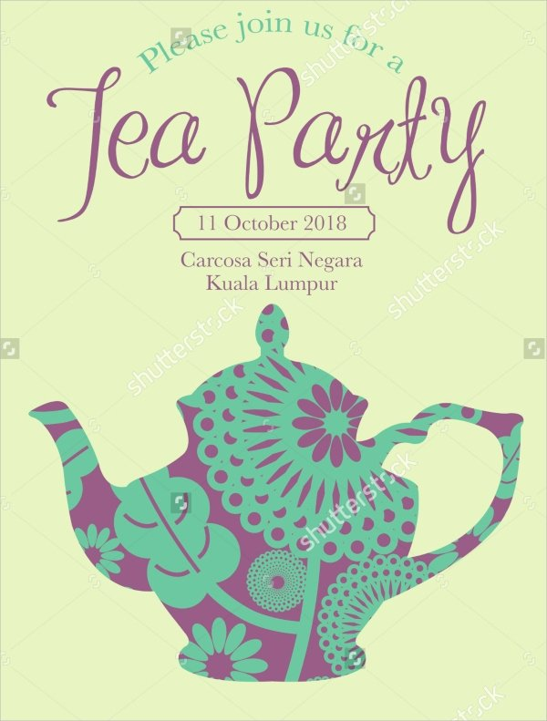 Tea Party Invitation Template Fresh 22 Sample Tea Party Invitations Word Psd Ai