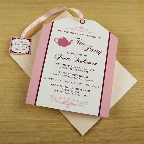 Tea Party Invitation Template Inspirational Tea Party Invitation Template Tea Bag Cutout Colleen