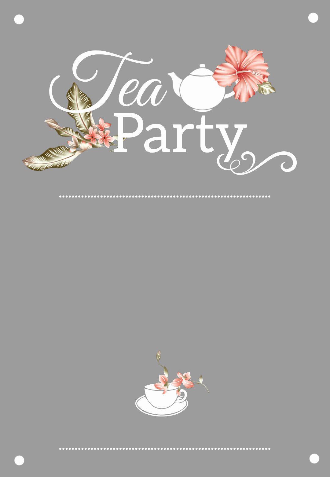 Tea Party Invitation Template Lovely Bridal Shower Tea Party Free Printable Bridal Shower Invitation Template