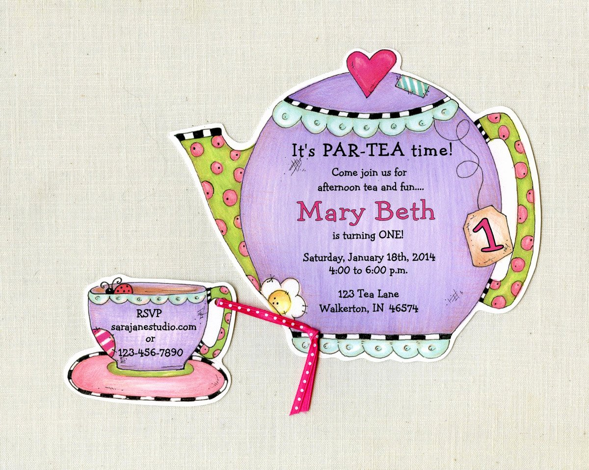 Tea Party Invitation Template Lovely Personalized Tea Party Invitations Teapot by Artfullyinvited