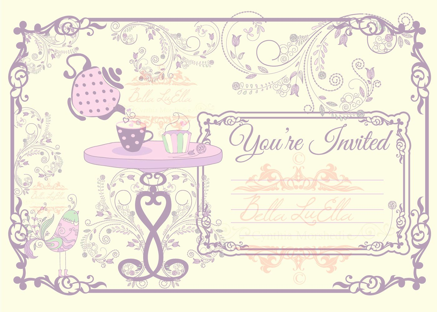 Tea Party Invitation Templates Awesome Tea Party Invitation Blank Downloadable