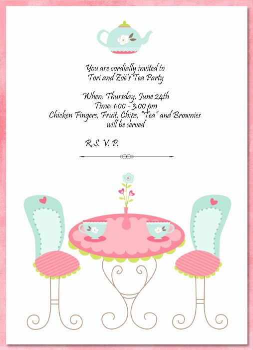 Tea Party Invitation Templates Beautiful Hybrid Scrapbooking and More Invitations