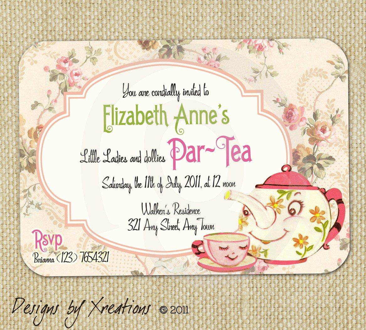 Tea Party Invitation Templates Best Of Items Similar to Cute Vintage Tea Party Invitation Digital Template Customizable Wordings
