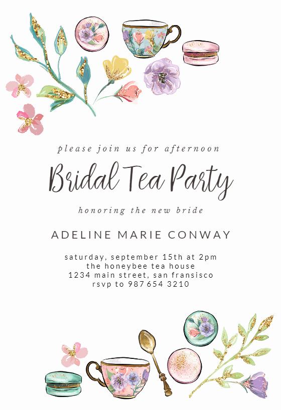 Tea Party Invitation Templates Inspirational Tea Party Bridal Shower Invitation Template Free