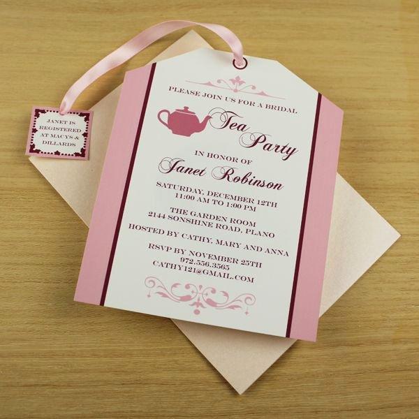 Tea Party Invitation Templates Luxury Tea Party Invitation Template Tea Bag Cutout Colleen