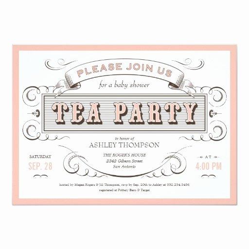 Tea Party Invitation Templates New Vintage Tea Party Invitations