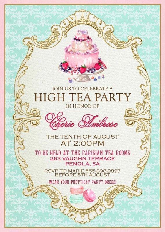 Tea Party Invitation Templates Unique Best 25 Invitation Templates Ideas On Pinterest
