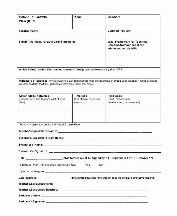 Teacher Performance Evaluation form Lovely Free 19 Sample Teacher Evaluation forms