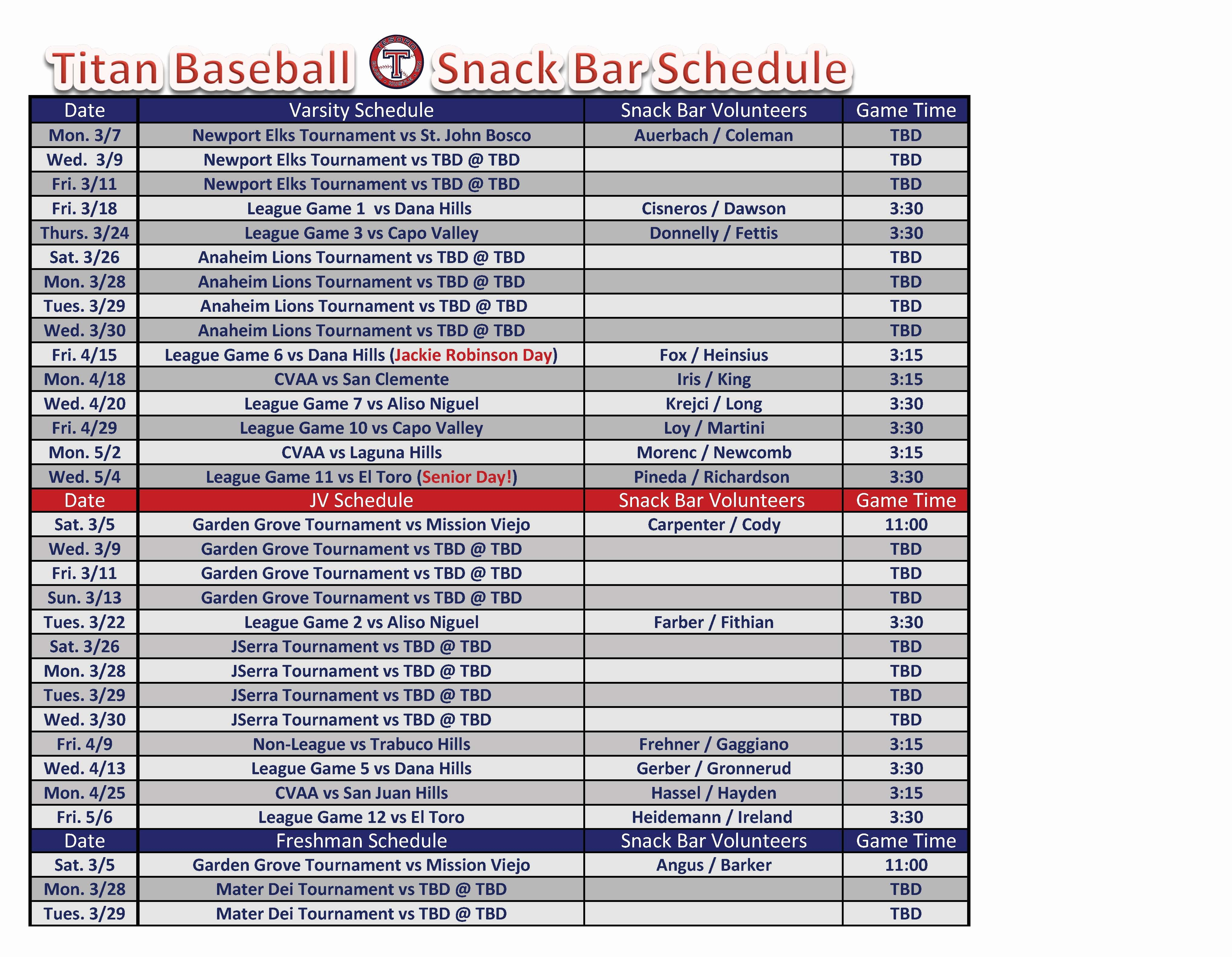 Team Snack Schedule Template Best Of Baseball Snack Schedule Template Pdf format