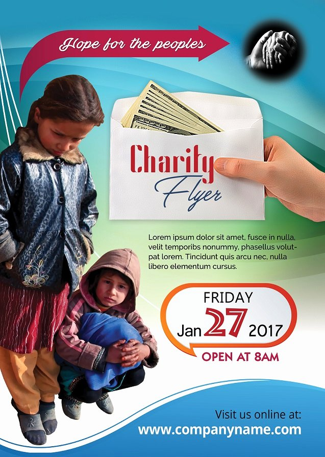 Tear Off Flyer Template Photoshop Beautiful Charity Flyer Design Free Psd for Download Free Flyer Templates