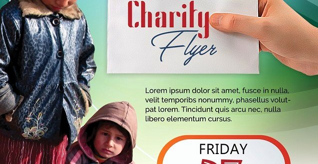 Tear Off Flyer Template Photoshop Fresh Charity Flyer Design Free Psd for Download Free Flyer Templates