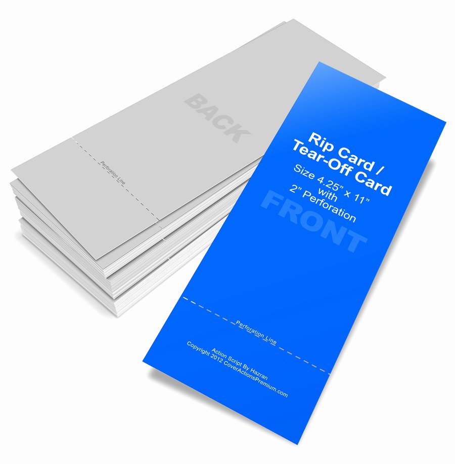 Tear Off Flyer Template Photoshop Fresh Rip Card Tear F Card Mockup Cover Actions Premium