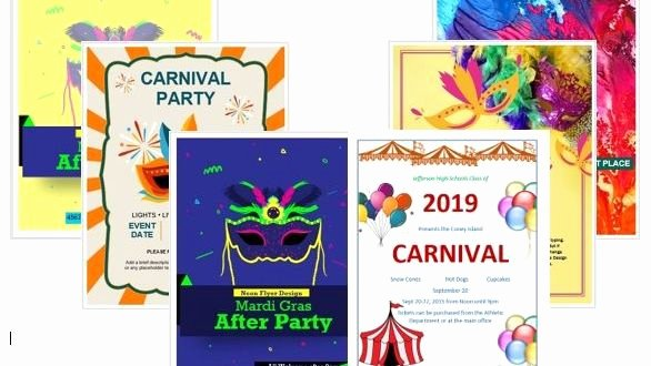 Tear Off Flyer Template Photoshop Inspirational 15 Free Carnival Flyer Templates In Ms Word & Shop format