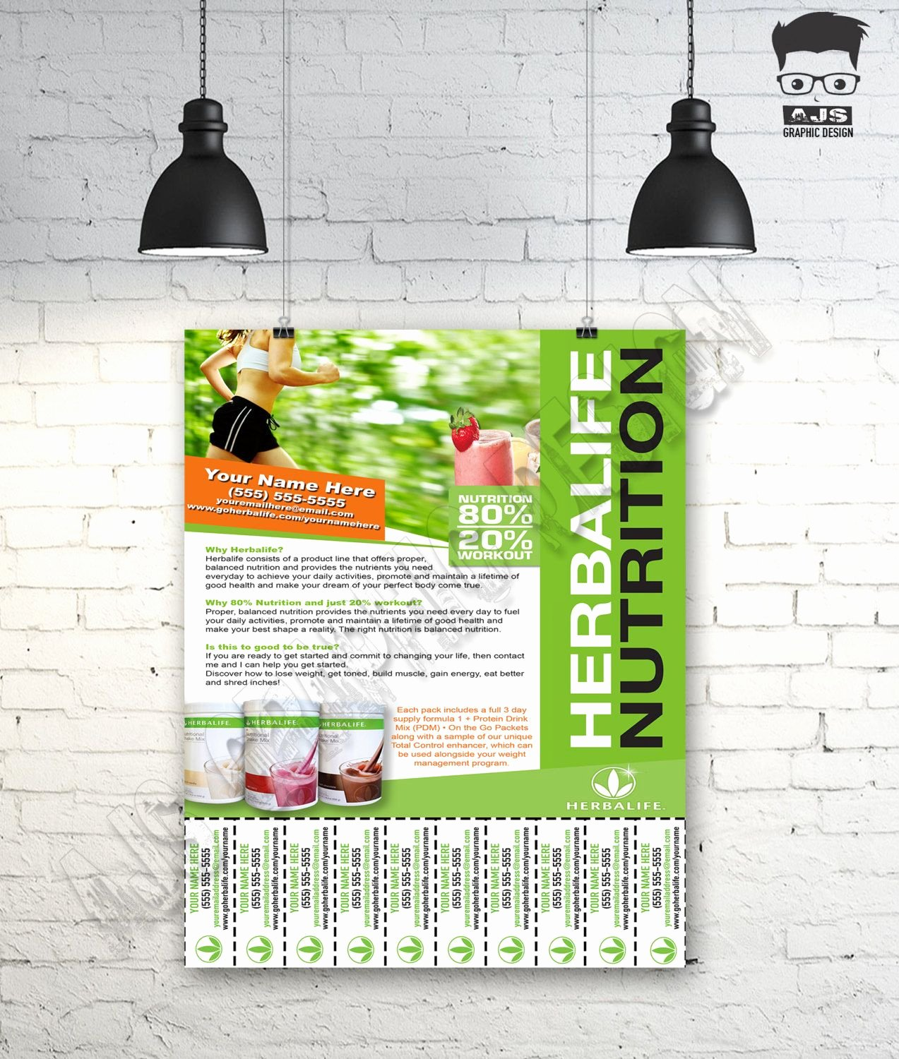 Tear Off Flyer Template Photoshop Luxury Custom Print Ready Herbalife Contact Flyer • Herbalife Nutrition Tear F • Herbalife Graphics
