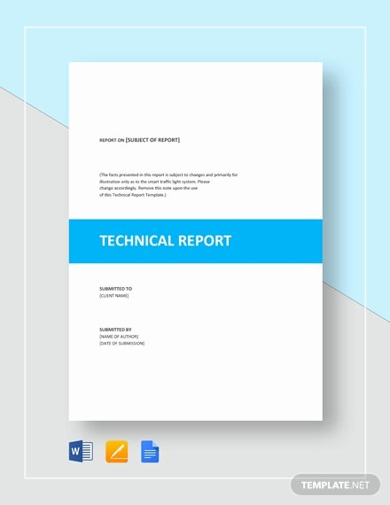 Technical Report Template Word Fresh 14 Sample Technical Report Templates Word Pdf Google Docs Apple Pages