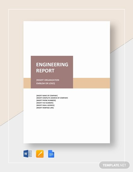 Technical Report Template Word Inspirational 10 Technical Report Templates Docs Pdf Word