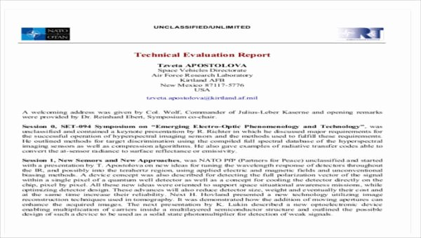 Technical Report Template Word Inspirational 8 Sample Technical Reports – Pdf Word