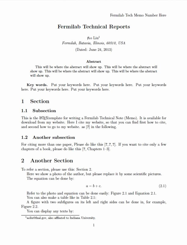 Technical Report Template Word Lovely Technical Report Template