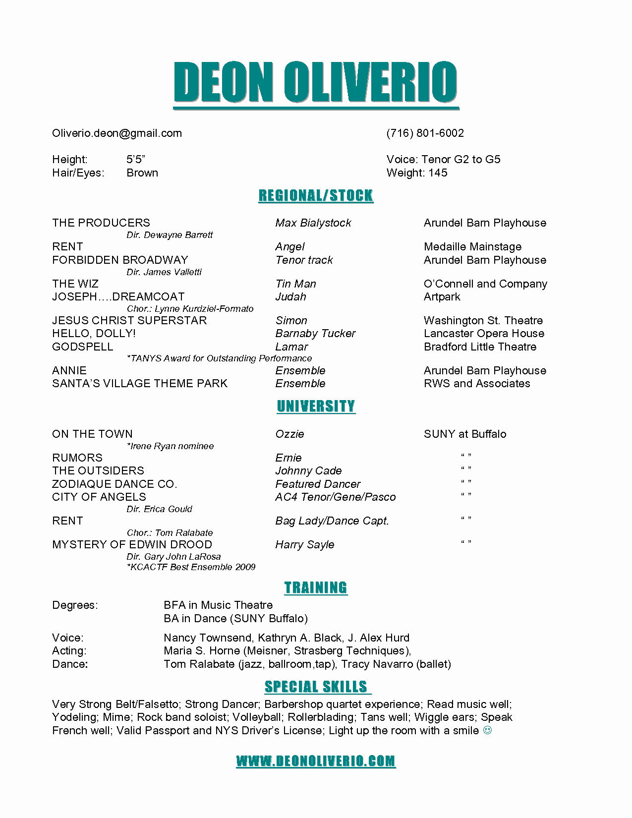 Technical theatre Resume Template Elegant theatre Resume Example – Emmamcintyrephotography