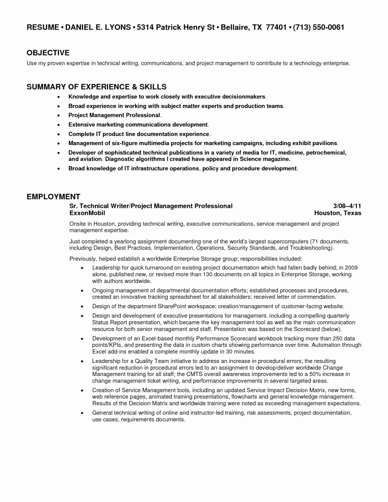 Technical Writer Resume Sample Elegant Freelance Writer Resume Template