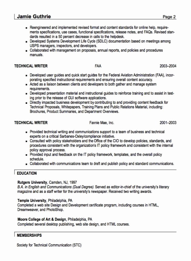Technical Writer Resume Sample Inspirational Best 25 Technical Writer Ideas On Pinterest