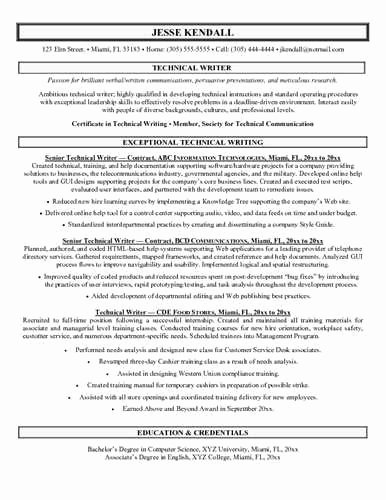 Technical Writer Resume Sample Unique Sample Technical Writer Resume