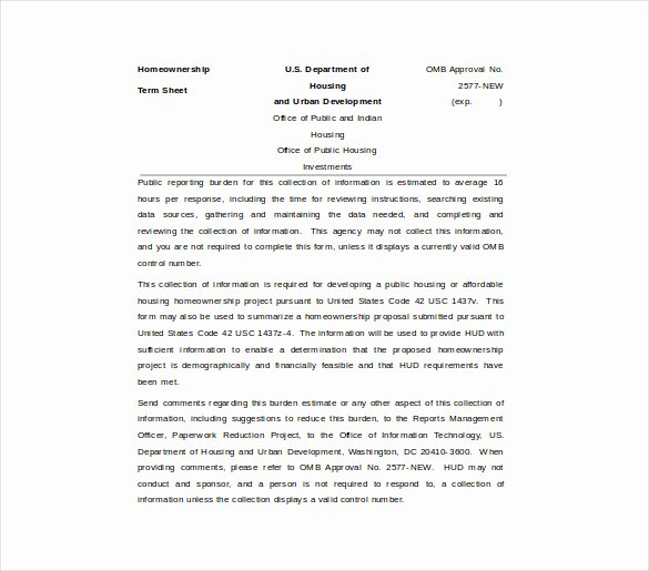 Term Sheet Template Word Awesome 17 Term Sheet Template Free Word Pdf Documents Download