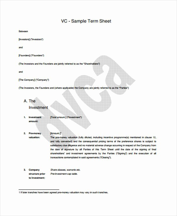 Term Sheet Template Word Lovely 44 Sheet Examples Psd Ai Word Pdf