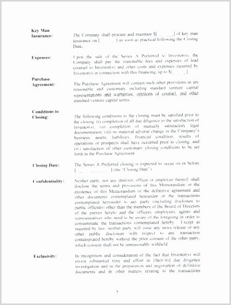 Term Sheet Template Word Luxury Acquisition Term Sheet Template Printable Luxury 71 Best Term Sheet Pinterest Pdf Word