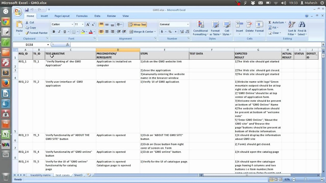 Test Case Template Excel Awesome Sample Test Case Template Document Excel