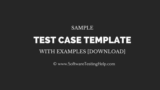 Test Case Template Excel Awesome Sample Test Case Template with Test Case Examples [download]