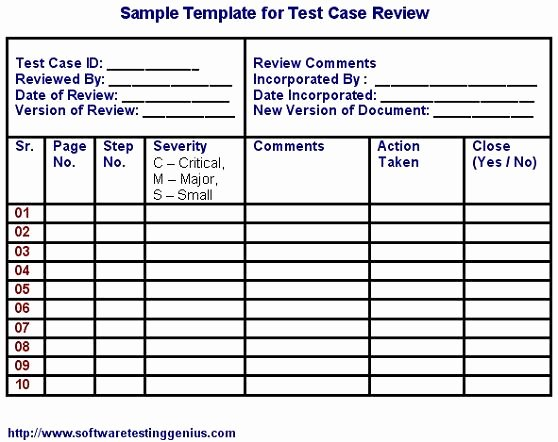 Test Case Template Xls Inspirational Test Case and Its Sample Template software Testing Genius