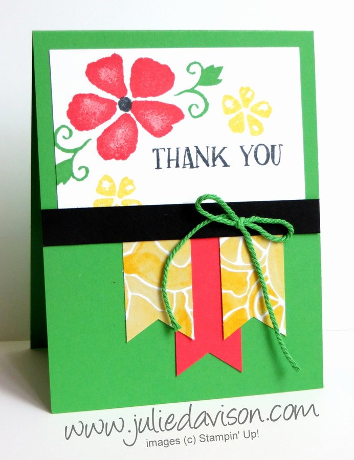 Thank You Banner Ideas New Julie S Stamping Spot Stampin Up Project Ideas by Julie Davison Fresh Fruit Banner Thank