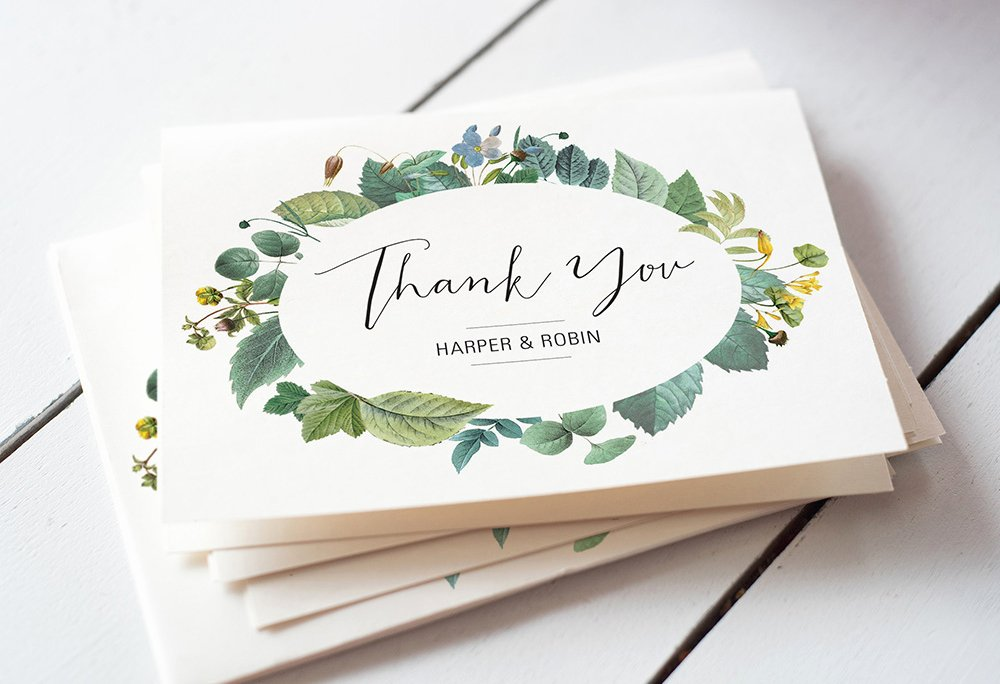 Thank You Card Template Word Awesome 4 Super Easy Ways to Word Your Wedding Thank You Cards