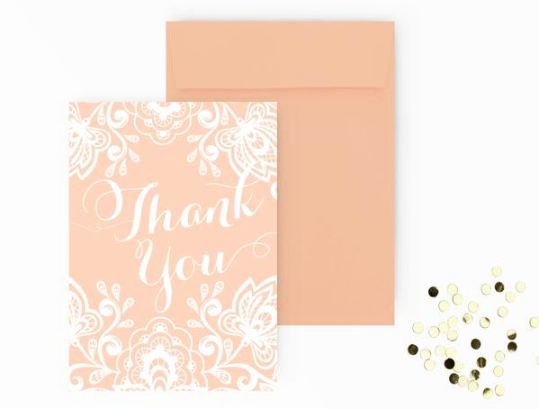 Thank You Card Template Word Awesome Thank You Card Diy Editable Ms Word Template