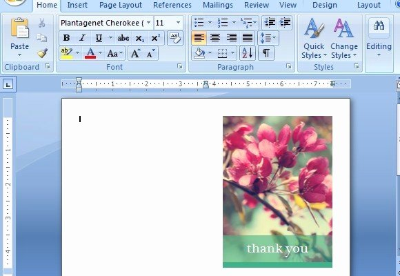 Thank You Card Template Word Awesome Thank You Card Templates for Word