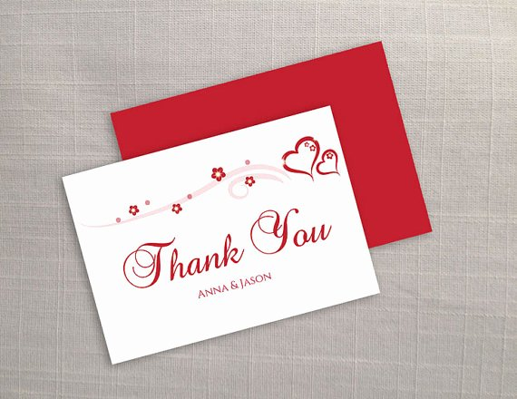 Thank You Card Template Word Elegant Diy Printable Wedding Thank You Card Template Weddbook