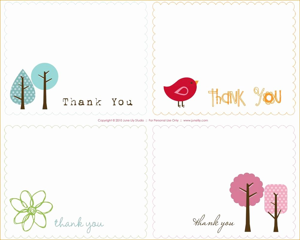 Thank You Card Template Word Fresh Thank You Note Template