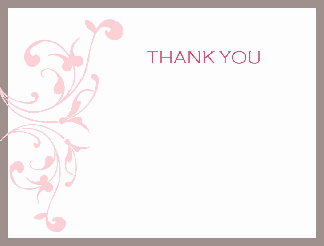 Thank You Card Template Word Luxury Thank You Card Template