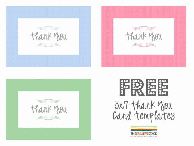 Thank You Card Template Word Unique Freebie Fridays – Thank You
