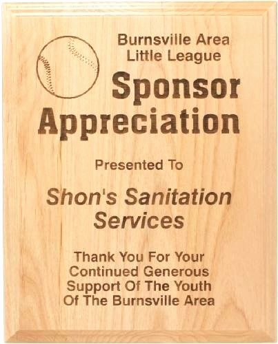 Thank You for Sponsoring Me Lovely Thank You Plaques for Sponsors Walnut Finish Plaque with soccer Activity Plate Sponsorship