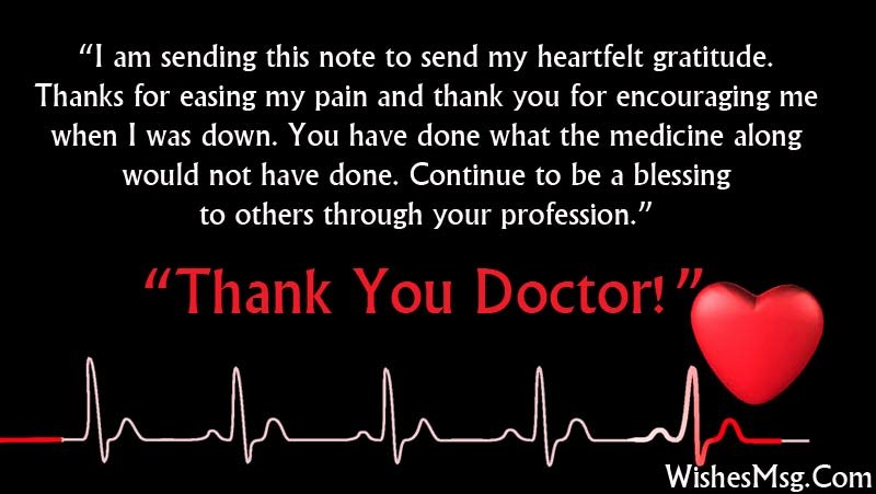 Thank You Letter to Doctor Inspirational Thank You Messages for Doctor Appreciation Notes Wishesmsg