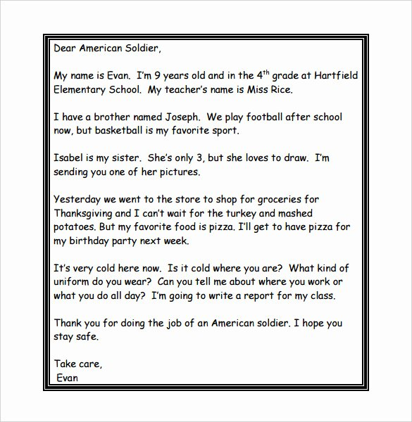 Thank You Letter to soldiers Beautiful 8 Thank You Letter Templates – Doc Pdf
