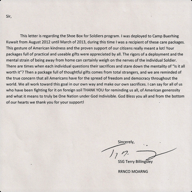Thank You Letter to soldiers Best Of Voice Over andy Taylor Blog Shoeboxes for sol Rs