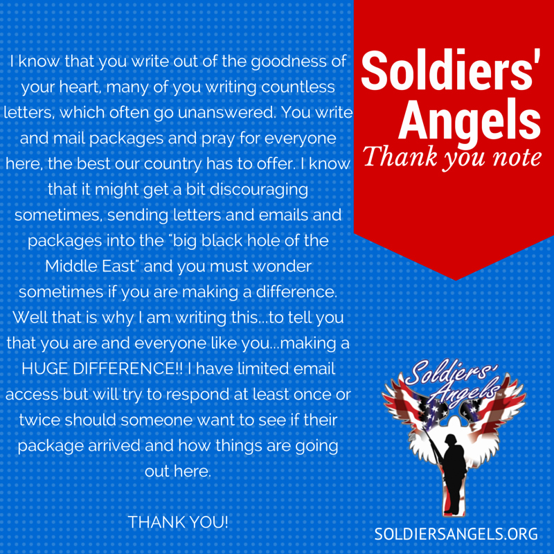 Thank You Letter to soldiers Lovely sol Rs Angels Show Your Appreciation to Deployed